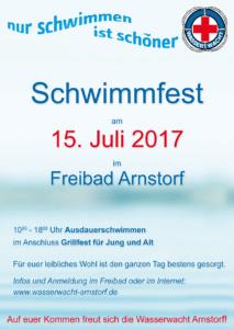 Schwimmfest am 15. Juli 2017 im Freibad Arnstorf