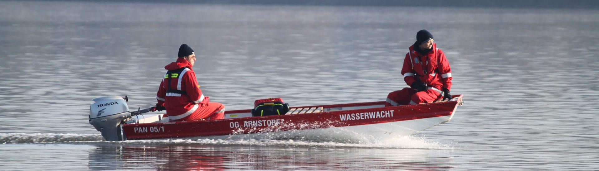 Motorboot der Wasserwacht Arnstorf